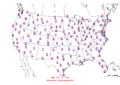 2015-10-11 Max-min Temperature Map NOAA.png