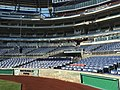 2016-05-25 08 17 00 View towards the seats behind home base from in front of the Visitors Dugout at Nationals Park in Washington, D.C..jpg