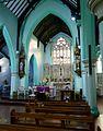 2016 Woolwich, St Peter's RC Church, interior, chancel.jpg