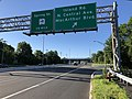 2018-07-19 07 56 24 View south along New Jersey State Route 17 at the exit for Island Road-North Central Avenue-MacArthur Boulevard in Mahwah Township, Bergen County, New Jersey.jpg