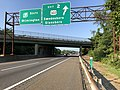 2018-08-26 08 30 23 View south along New Jersey State Route 700 (New Jersey Turnpike) at Exit 2 (U.S. Route 322, Swedesboro, Glassboro) in Woolwich Township, Gloucester County, New Jersey.jpg