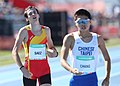 2018-10-16 Stage 2 (Boys' 400 metre hurdles) at 2018 Summer Youth Olympics by Sandro Halank–038.jpg