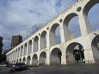 Carioca Aqueduct - The Carioca Aqueduct in the centre of Rio de Janeiro