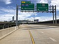 2019-06-19 13 56 53 View south along Interstate 295 (Anacostia Freeway) at Exit 1A (Interstate 95-Interstate 495 NORTH, Baltimore) in National Harbor, Prince George's County, Maryland.jpg