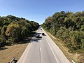 2019-09-25 14 47 52 View west along the westbound lanes of Maryland State Route 100 (Paul T. Pitcher Memorial Highway) from the overpass for Maryland State Route 648 (Waterford Raod) in Pasadena, Anne Arundel County, Maryland.jpg