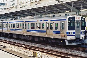 211 series - 211 series in original JNR livery, August 1988