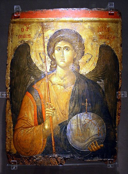 File:2155 - Byzantine Museum, Athens - St. Michael (14th century) - Photo by Giovanni Dall'Orto, Nov 12 2009.jpg
