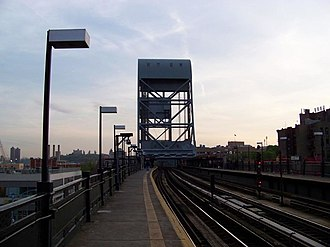 Marble Hill–225th Street (IRT Broadway–Seventh Avenue Line) - View south toward bridge