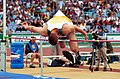 231000 - Athletics field pentathlon Wayne Bell high jump action - 3b - 2000 Sydney event photo.jpg