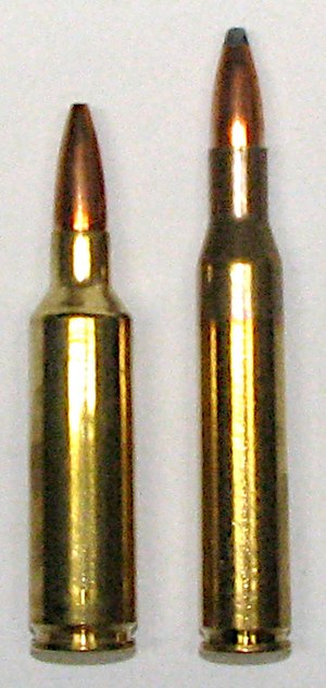 .270 Winchester Short Magnum - .270 WSM left, .270 Win on the right
