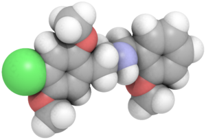 25C-NBOMe - Image: 2C C NBO Me spacefill