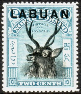 "Labuan - Stamp of North Borneo overprinted ""Labuan"", 1897"