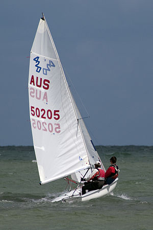 420 (dinghy) - A 420 under sail
