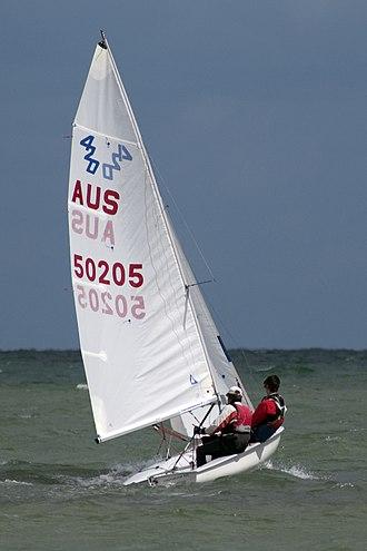 420 (dinghy) - A 420 under sail