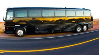 Detroit Diesel Series 71 - Motor Coach Industries MC-9 bus powered by a rear-mounted 8V-71 Detroit Diesel engine.