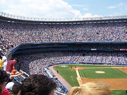 A full house at Yankee Stadium for a Subway Series game against the Mets on 6/16/2007.