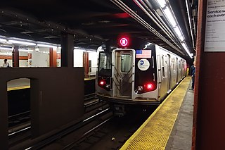 New York City Subway station in Manhattan