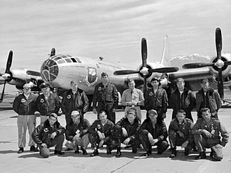 4925th Test Group - Crew of the 4926th Test Squadron in front of their B-50D 47-165.  The B-50 was used to collect atmospheric samples of radiation after atomic tests.