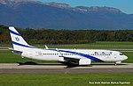 4X-EKS Boeing B737-8HX-W B738 -ELY (15413524427).jpg