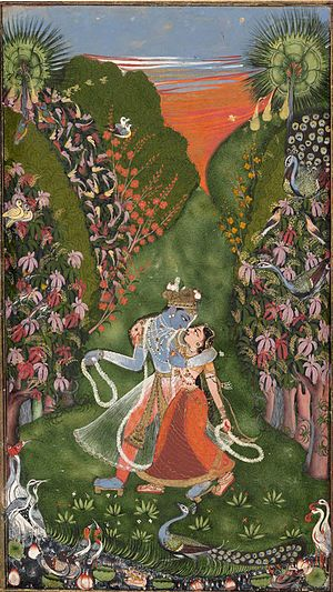 Radha and Krishna Walk in a Flowering Grove - Wikipedia