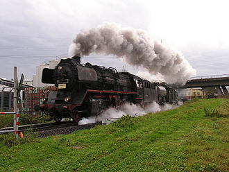 "DRB Class 50 - 50 3552 in steam as the ""Teddybear Express"" on the Nidder Valley Railway"