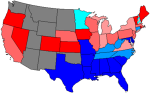 50th United States Congress - Image: 50 us house membership