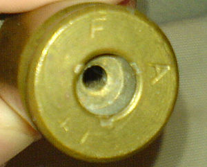 Frankford Arsenal -  A .50 caliber cartridge case with the Frankford Arsenal headstamp