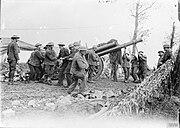 60-pounder gun at Wieltje Sep 1917 IWM Q 3019