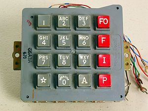 Dual-tone multi-frequency signaling - The keypads on telephones for the Autovon systems used all 16 DTMF signals. The red keys in the fourth column produce the A, B, C, and D DTMF events.