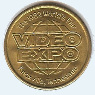 1982 World's Fair - Reverse, 1982 World's Fair token