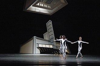 "Daniel Arsham - Set design for Merce Cunningham's ""EyeSpace"" performance."