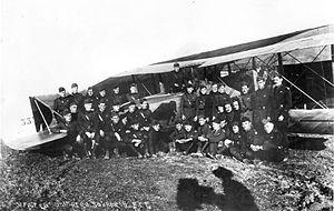 99th Aero Squadron - Men of the 99th Aero Squadron with their Salmson 2A2 at Parois Airdrome, France, November 1918