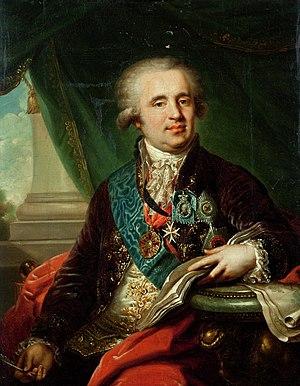 Alexander Bezborodko - Portrait, by Johann Baptist von Lampi the Elder