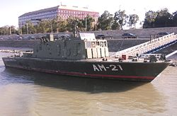 Retired AM-21 Százhalombatta minesweeper of the Hungarian Defence Forces, Budapest