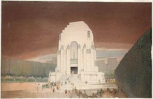 Bruce Dellit - Anzac War Memorial, Hyde Park, Sydney
