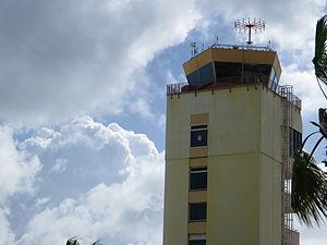 Queen Beatrix International Airport - The air traffic control tower