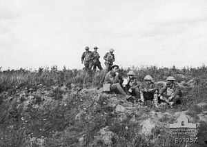 48th Battalion (Australia) - Soldiers from the 48th Battalion before their final attack at Le Verguier, September 1918