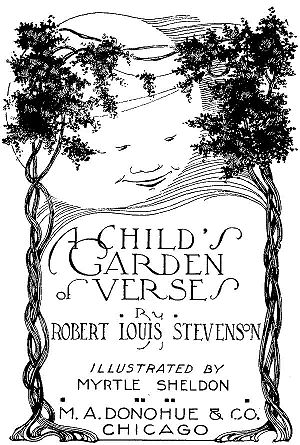 A Child's Garden of Verses - The Title Page of a 1916 Edition