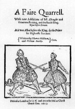 A Fair Quarrel - Title page of A Fair Quarrel.