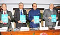 A High Level Safety Review Committee, constituted by the Ministry of Railways under the Chairmanship of Dr. Anil Kakodkar presented its report to the Union Minister for Railways, Shri Dinesh Trivedi.jpg