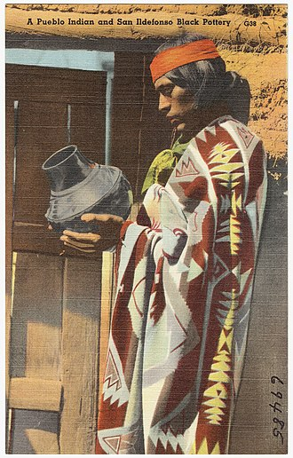 Indigenous peoples of the North American Southwest - Puebloan from San Ildefonso Pueblo, New Mexico