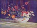 A bowl of flowers, watercolour by Vida Lahey.tif