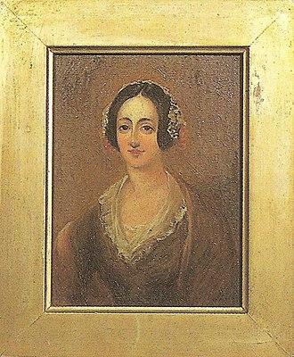 Eliza Grey - A portrait painting of Lady Eliza Grey at Mansion House, Kawau Island.