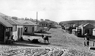 Bnei Brak - The main street of Bnei Brak in 1928