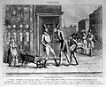 A young man outside a pharmacy and bumping into his creditor Wellcome L0006866.jpg