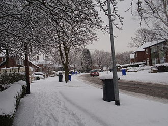 Winter of 2009–10 in Great Britain and Ireland - Manchester, England, on 5 January when the severest spell of the snow began.