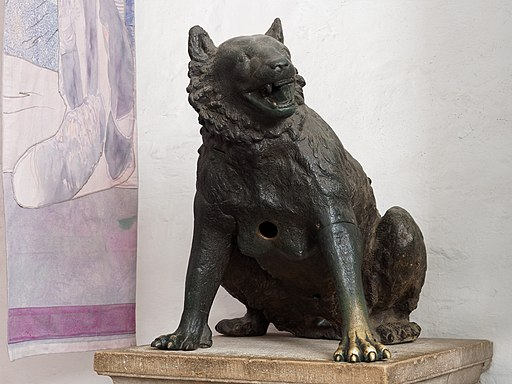Aachen Cathedral sculpture bear