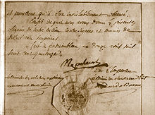 A hand-written letter of abdication signed by Napoleon Bonaparte