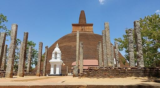 Abhayagiri Dagoba in Anuradhapura, Sri Lanka