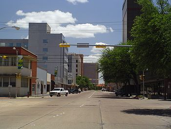 English: Downtown Abilene, Texas, looking sout...